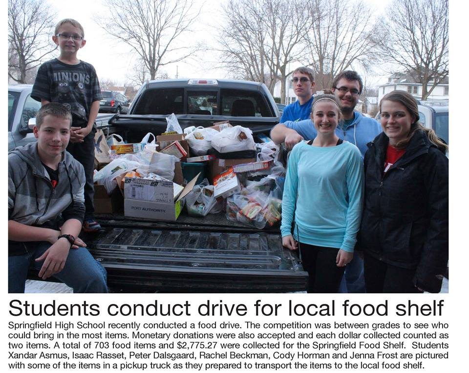 HS Nov Food Drive Challenge
